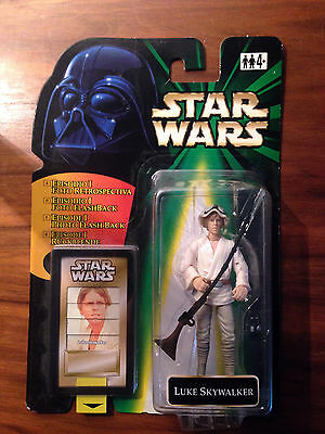 STAR WARS Luke Skywalker Hut Action Figur POTF2 1995-2000 MOC Flashback
