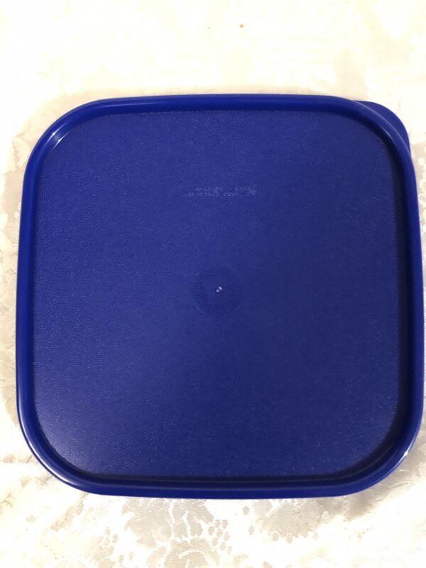 Tupperware Modular Mates Square Seal Replacement Lid 1623 Sapphire Blue