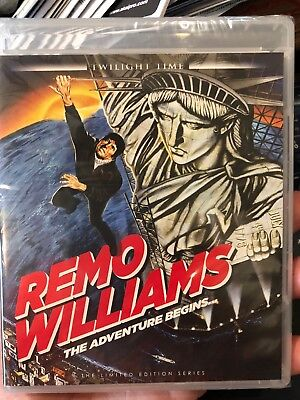 REMO WILLIAMS The Adventure Begins Blu-Ray TWILIGHT TIME LIMITED - BRAND NEW