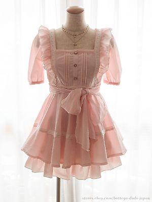LIZ LISA Matching Suits SET Gingham Apron-Style Dress Sukapan Hime Lolita Kawaii