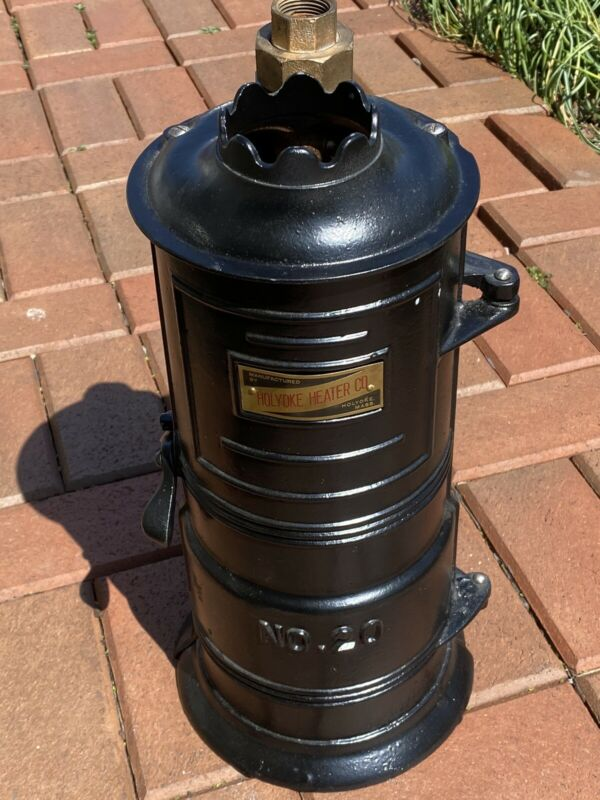 Vintage Antique Holyoke Gas Hot Water Heater Model #20 Circa 1920
