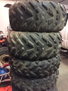 Dunlop ATV tires 25x10x12 and 25x8x12 used fronts and rears