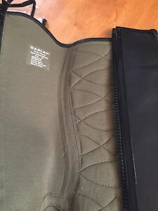 Brand New Ariat black leather chaps size XL!
