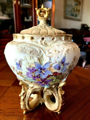 Art Nouveau 1900s Vase/Bowl RStK TURN-TEPLITZ BOHEMIA, made in Austria