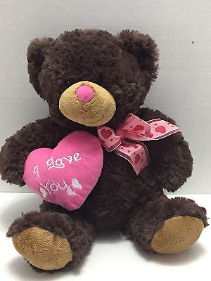 Used, Dan Dee Teddy Bear Plush Pink Heart I Love You Ribbon Collectors Choice 12 IN for sale  Jacksonville