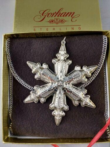 1996 Gorham Sterling Silver Snowflake Ornament New, Unused, w/box & bag