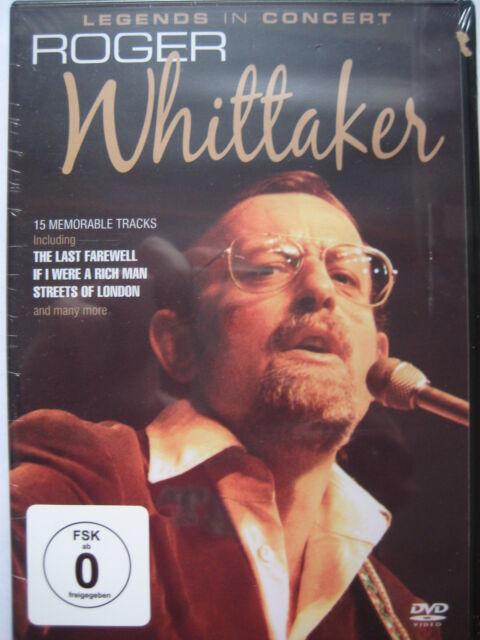 Roger Whittaker: Legends in Concert (DVD) NEW SEALED Pal