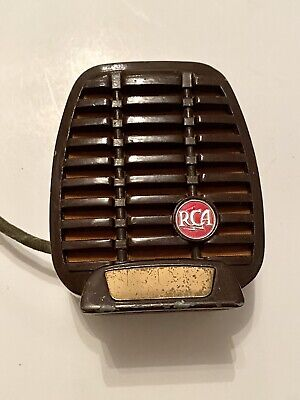 Vintag 1940s 50s RCA SHURE CR80E Controlled Reluctance Mic Microphone Metal Harp