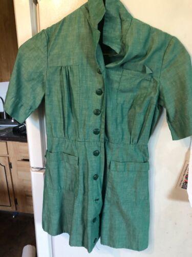 GIRL SCOUTS Vintage  UNIFORM 1950-60s Era Girl Scout Dress Uniform: junior size
