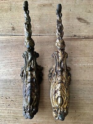 Antique Ormolu Brass Gilt Flora Decoration Vintage Victorian Georgian