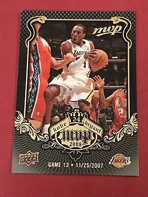 2008-09 Upper Deck MVP Kobe MVP Lakers Basketball Card #KB13 Kobe Bryant Kobe Bryant 2008 Mvp Basketball