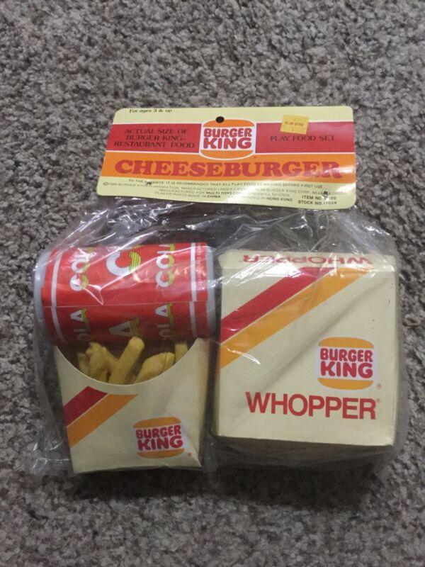 1988 Burger King Play Food Set Whopper Cheeseburger Fries and DrinkHong Kong