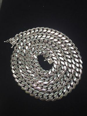 Miami Hand Made Solid Classic Cuban Link Silver 925 Chain - 7mm - 30 Inches