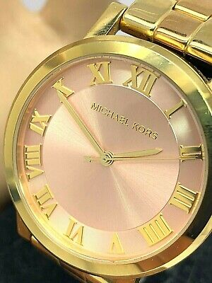 Michael Kors Women's Watch MK3586 Two Tone Dial 38mm Stainless Steel USED