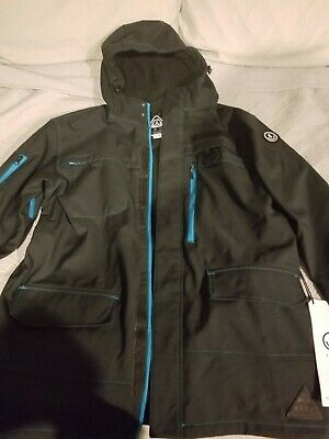 d9de75f30 Neff Military Softshell Snow Snowboard Ski Jacket Size Medium and XL  Black/blue