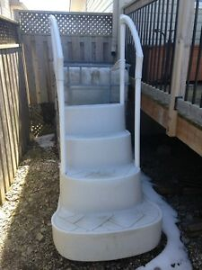 Pool:  cover, filter, stairs, pump, chlorinator.