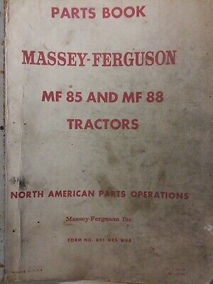 Massey-ferguson Mf 85 88 Diesel Gasoline Farm Agricultural Tractor Parts Manual