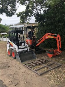 DRY HIRE 1.7t excavator or mini bobcat