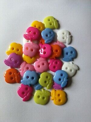 apple shape plastic buttons mixed colours approx 15g new 16mm craft sewing