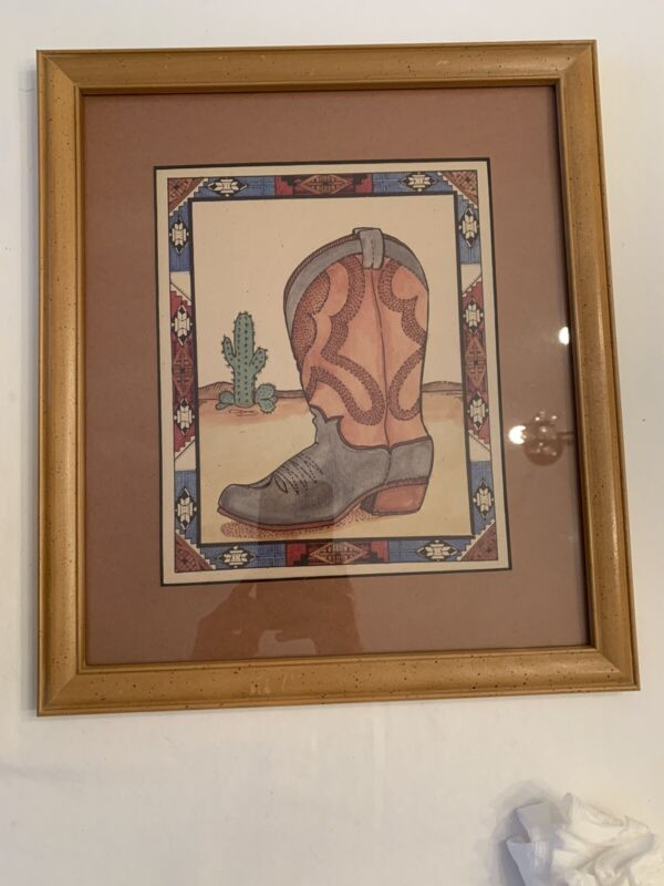 Cowboy boot painting