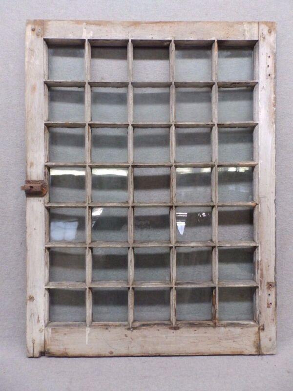 Antique 35-Lite Pane Window Sash Cabinet Door 24x32 500-17R