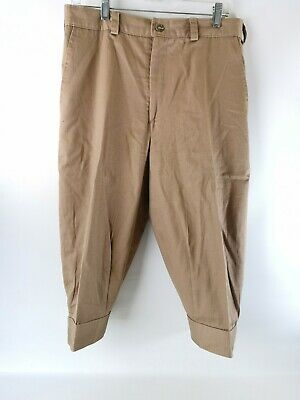"Victorian Cosplay Steampunk Short Trousers Tan Knickers Repro 34"" Waist Made USA"