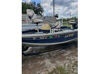 "2001 Lowe Sea Nymph 16'6"" Aluminum Bass Boat & Trailer - Florida"