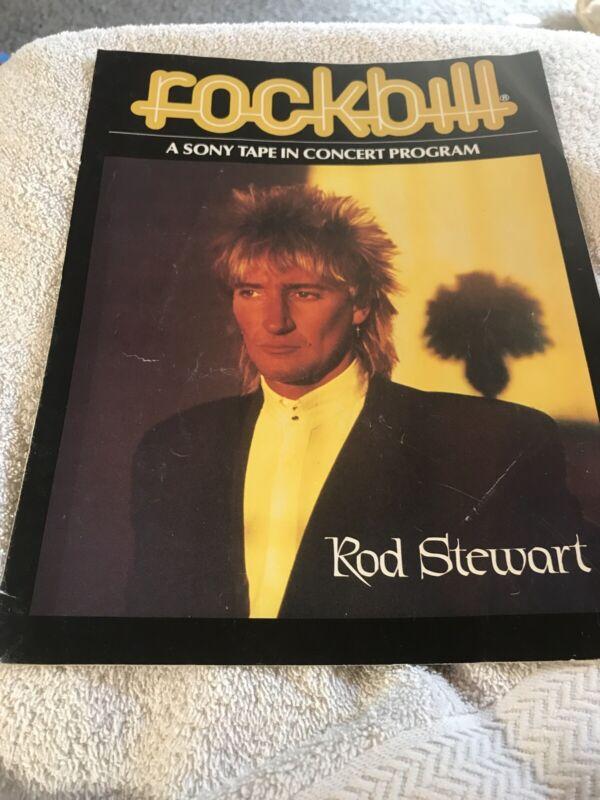 Rockbill Rod Stewart 1981 Sony Tape Concert With Poster
