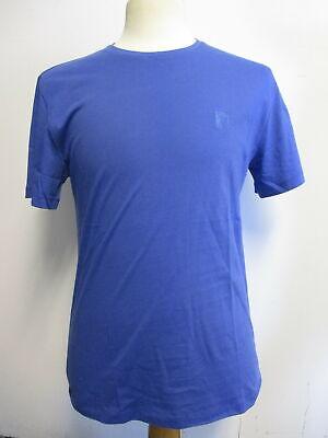 VERSACE COLLECTION blue 100% cotton crew-neck T-shirt sz M