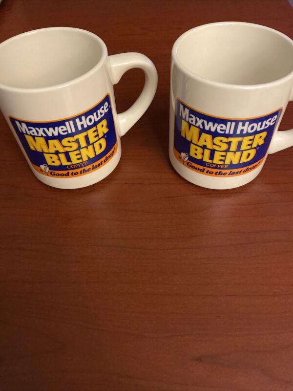 "2 Vintage Maxwell House Master Blend ""Good to the Last Drop"" Ceramic Coffee Mug"