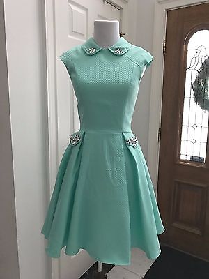 Elegant Tiffany Blue Short Pageant Interview Dress Homecoming Size 0-8