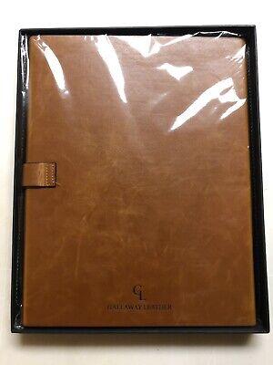 Gallaway Leather Padfolio Portfolio Folder Letter Legal A4 Notebooks Light Brown