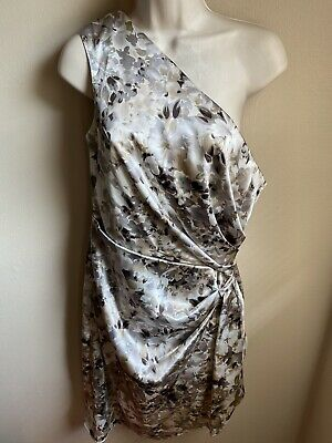 London Style Nights Satin One Shoulder Dress Size 12