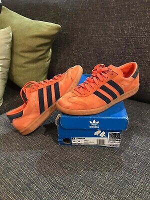 Adidas hamburg Uk 10 Super Orange Og Deadstock Rare