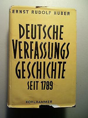 Deutsche Verfassungsgeschichte seit 1789 Bd.I Reform Restauration 1789-1830/1957