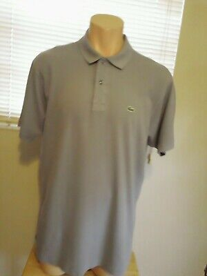 Lacoste Mens Gray Classic Fit Polo Shirt Size US 3XL FR 8