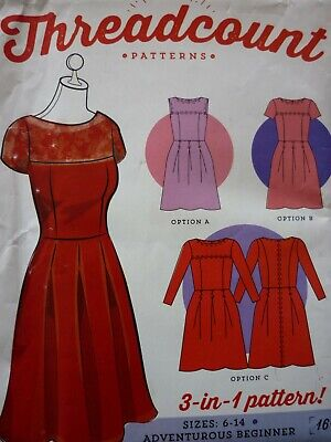 NEW THREADCOUNT VINTAGE STYLE DRESSES SEWING PATTERN