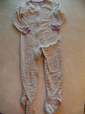 Footed Sleeper Pajamas Pj S (girls CARTER'S FOOTED SLEEPER pajamas WINTER FLEECE PJ'S zebra print SIZE 5T)