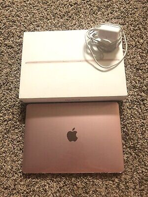 "2016 Rose Gold Retina MacBook Laptop 12"" 250 GB W B&P - Near Perfect"