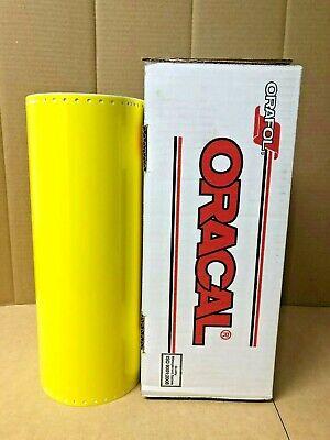 Oracal 651 1 Roll 15 X 50yd 150ft Brimstone Yellow 025 Gloss Sign Vinyl