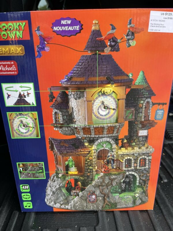 """2021 Lemax Spooky Town """"The Witching Hour"""" Michaels Exclusive Brand New in Box"""