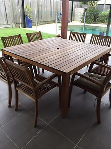 9 piece outdoor setting Murrumba Downs Pine Rivers Area Preview