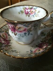 Autumn Roses Royal Albert tea cup and saucer $20
