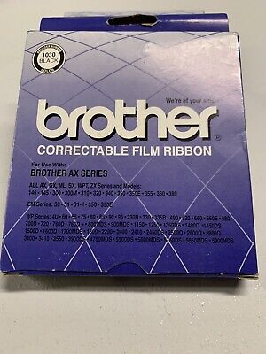 New Brother 1030 Black Correctable Film Ribbon Sealed. Free Shipping 1c