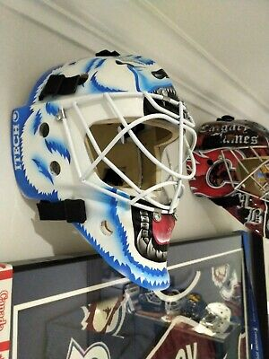 cbe800871f4 Bauer Itech 961 Goalie Mask Painted Ron Hextall Tribute Quebec Nordiques Pro