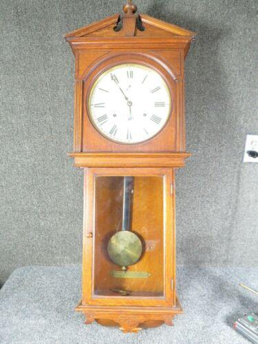 Antique Seth Thomas Umbria oak  wall  regulator clock A-1 condition