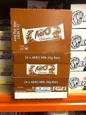 FULL BOX OF NEW NESTLE AERO BUBBLY MILK / PEPPERMINT CHOCOLATE BAR 24 x 36g BARS