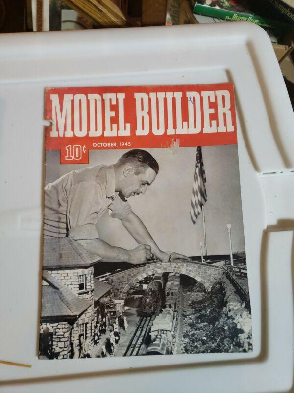 Model Builder 1945 October Lionel Magazine Curving track double cut