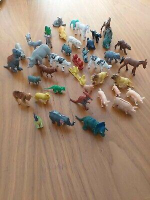 Kinderspielzeug Tiere für Bauernhof aus Kunststoff und Gummi Wildtiere und Dinos