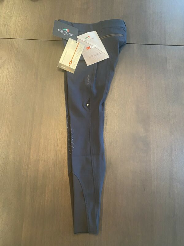 Equiline Breeches, Navy, knee grip Frisca x-grip.   Size Italy 38 , GB 6 ,